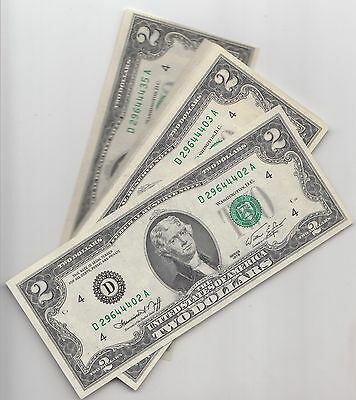 $2 1976  CLEVELAND OHIO  33 BILLS  402A to 435A2 UNCIRCULATED