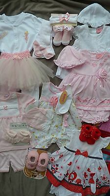 Bundle baby girl clothes 3-6 months all brand new ex shop stock loads of items