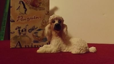 pacific 4403 animal Dog Figurine Sculpture Poodle White resin cast