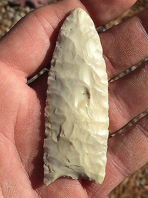 Rare Authentic Paleo Indian Arrowhead Relic Clovis Saline IL Fluted Thin