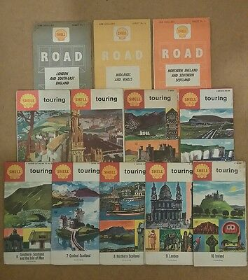 Job Lot of Old Shell Petrol UK Road Maps