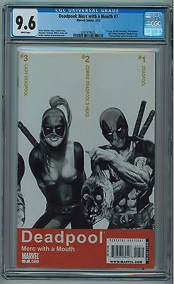 Deadpool Merc With A Mouth #7 Cgc 9.6 1St Lady Deadpool White Pages 2010