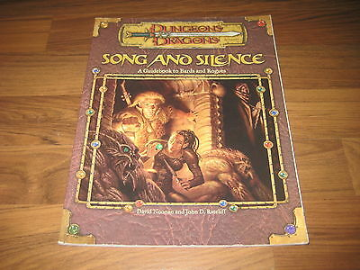 D&D 3rd Edition Song and Silence: A Guidebook to Bards and Rogues Accessory 2001