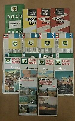 Job Lot of Old BP Petrol UK Road Maps