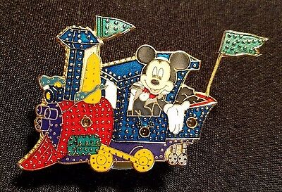 Retired 2000 Disney Main St Electrical Parade Mickey Train Light Up Pin Le 7500
