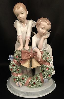 "Lladro ""A Heavenly Christmas"" Angels (1863 Mint in Box) RARE & Large 12.25"""