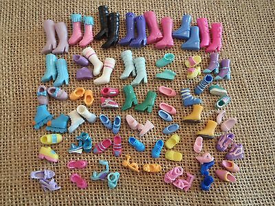Polly Pocket Dolls Lot of Shoes - 42 pairs - E45