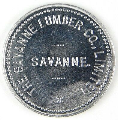 Ontario, Canada Can CA Trade Token The Savanne Lumber Co. G/F 25c In Mdse.
