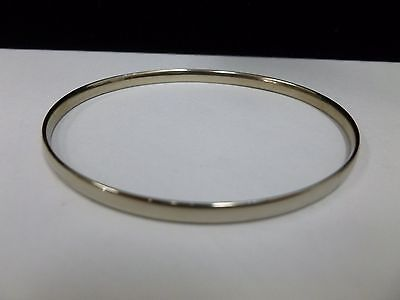 9ct White Gold Solid Bangle