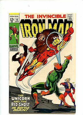 Iron Man #15 (1969) Unicorn and Red Ghost VF- 7.5