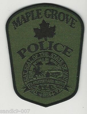 SWAT SRT Maple Grove Police State of MINNESOTA MN Shoulder Patch