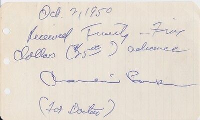CHARLIE PARKER Signed Cash Receipt & Photograph, With 2 COA's, PUBLISHED IN BOOK