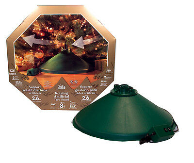 Spinning Rotating Artificial Christmas Tree Stand Revolving VIDEO EZ Rotate