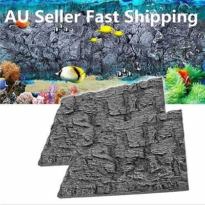 3D Foam Rock Reptile Stone Aquarium Fish Tank Background Backdrop Board Decor