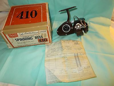 Vintage Sears Ted Williams 410 Spinning Reel with the Original Box