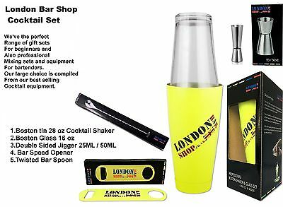 Cocktail Shaker Set Including Boston Shaker + Accessories