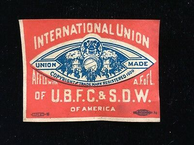 Intl Union Of Brewery Flour Cereal & Soft Drink & Distillery Workers Label