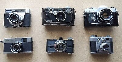 Lot of 6 old film cameras for collection