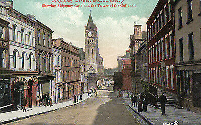 Shipquay St Londonderry Shipquay Gate & Tower Of Guildhall Ireland Postcard