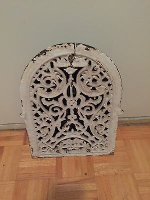 Old Metal Decorative Ornate Heating Grate With Paint Heavy Salvage Architectural