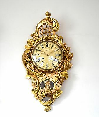 Westerstrand Swedish Carved & Gilded Wall Clock