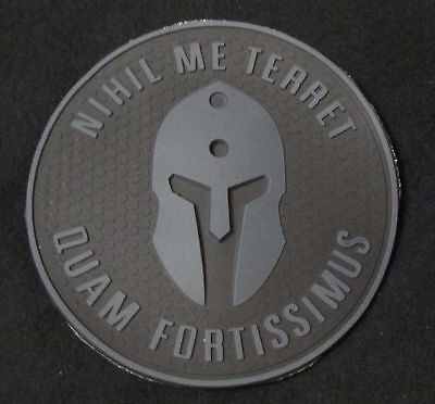Pvc Molon Labe Badge Nothing Frightens Me Tactical Morale Dark Ops Velcro Patch