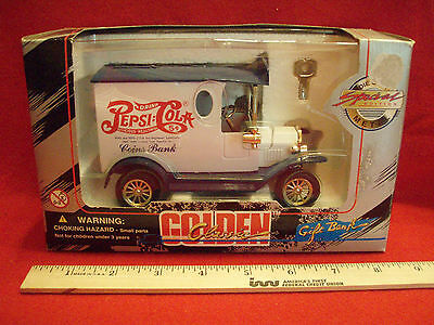 new pepsi golden classic toy coin bank car 1996 Die Cast Special Edition
