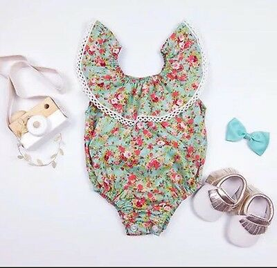 Baby Girl Floral Romper - Size 12-18 Months