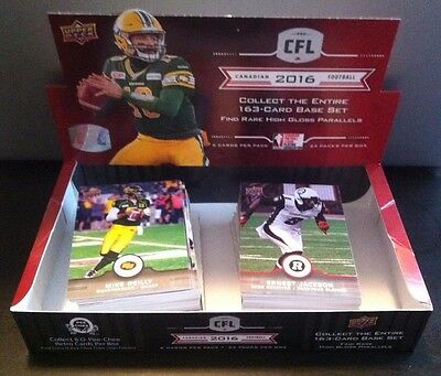 2016 Upper Deck CFL Complete Base Set (1-100)