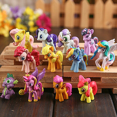 my little pony set of 12pcs pvc figures collection gift toys new