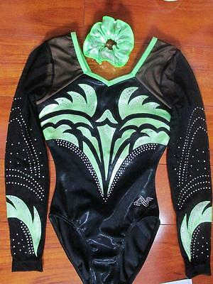 Alpha Factor Leotard LS Aliya Competition ASM Foil Crystals