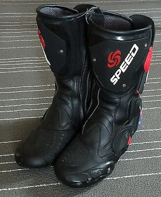 Speed Motorcycle Boots With Air Vent