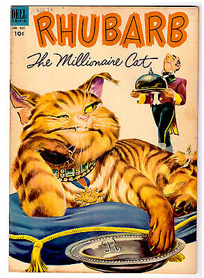 RHUBARB THE MILLIONAIRE CAT in VF/NM  a DELL FOUR COLOR comic # 466 HIGH GRADE
