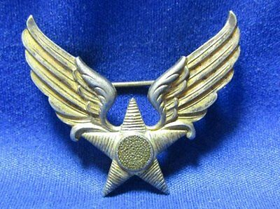 WWII Sterling Army Air Corps Air Forces Honor Guard Winged Star Badge