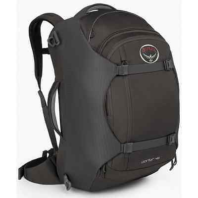 Osprey Porter Travel Backpack Bag, Black, 46-Liter