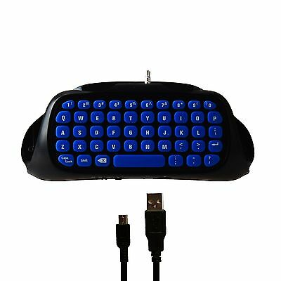 DOBE Mini 2.4G Wireless Keyboard for SONY PS4 Pro PS4 Slim Controller Black/Blue