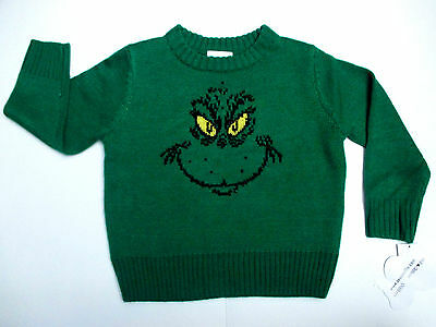 The Grinch Dr. Seuss Xmas Toddlers Pullover Sweater Choose Size 2T, 3T, 4T-NEW!
