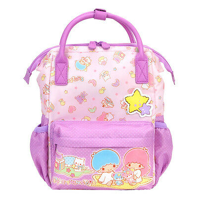 2016 Sanrio Little Twin Stars Soft Puffy Backpack ( M ) ~ NEW