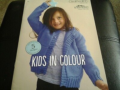 Cleckheaton childrens knitting pamphlet -Kids in Colour