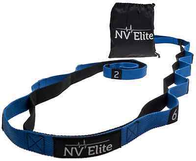 Yoga Stretching Strap with Loops - Highest Quality Strap with 12 Numbered Loops