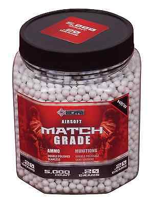 Crosman AirSoft 5,000-Count Bottle White Heavy AirSoft BBs