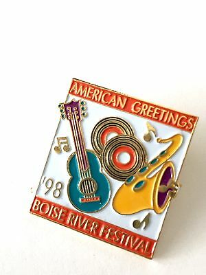 American Greetings 98 Boise River Festival Collectable Lapel Pin 1998 Music