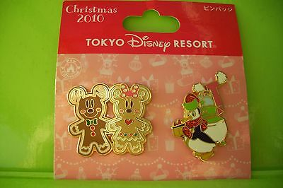 Tokyo Disney RESORT Christmas Pins Mickey Minnie Ginger Cookie Penguin Pablo