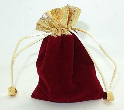 """5Pcs Red Velvet Wedding Party Favor Gift Candy Pouch Bags 3.6""""x4.8"""""""