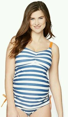 New Maternity Swimsuit Tankini Oh Baby By Motherhood 2 Piece Size Large L $60