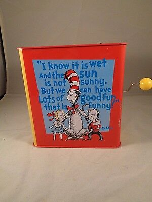 Vintage Cat in the Hat Jack in the Box - Mattel~Works~ Made by Schylling