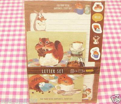SYNAPSE JAPAN / Cute Animal Letter Set / Japan Stationery Bird Squirrel