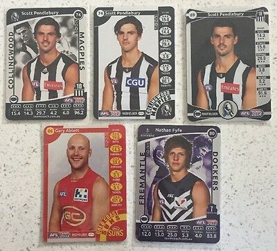 Silver Pendlebury, Ablett And Fyfe Team Coach Cards 2012, 2013, 2014