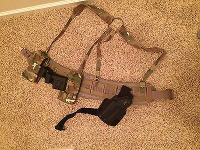 5.11 belt, Safariland holster and multiple pouches