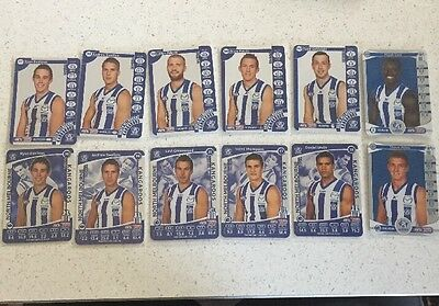 North Melbourne Kangaroos Team Coach Card Lot 2012, 2013, 2014